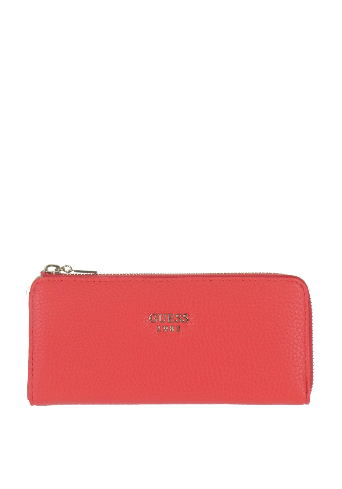 Guess Cate Zip Around Purse, Coral