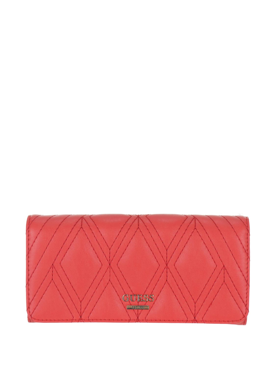 Guess Shea Quilted Large Flap Purse, Tomato Red