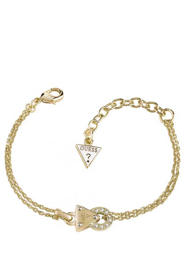 Guess Womens Embrace Me Bracelet, Gold