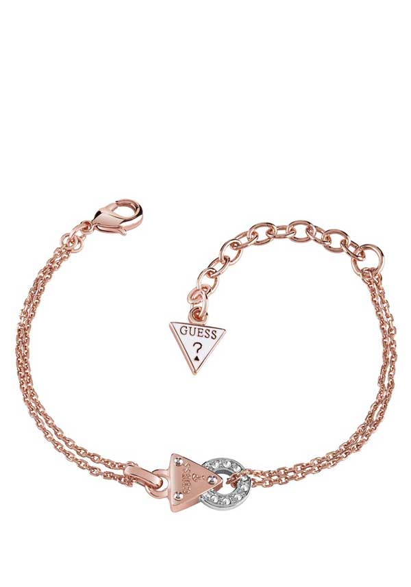 Guess Womens Embrace Me Bracelet, Rose Gold