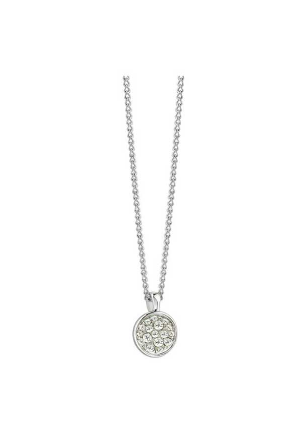 Guess Womens Chic Geode Style Necklace, Silver