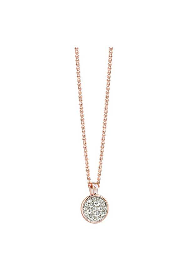 Guess Womens Chic Geode Style Necklace, Rose Gold