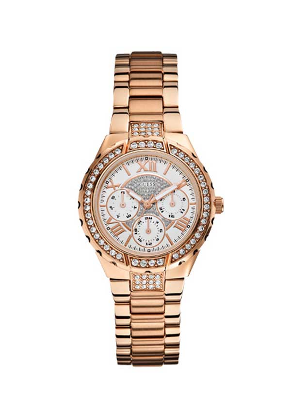 Guess Womens Viva Multifunction Sports Watch, Rose Gold