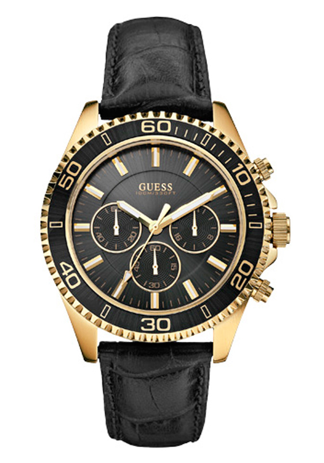 Guess Mens Chaser Watch, Black