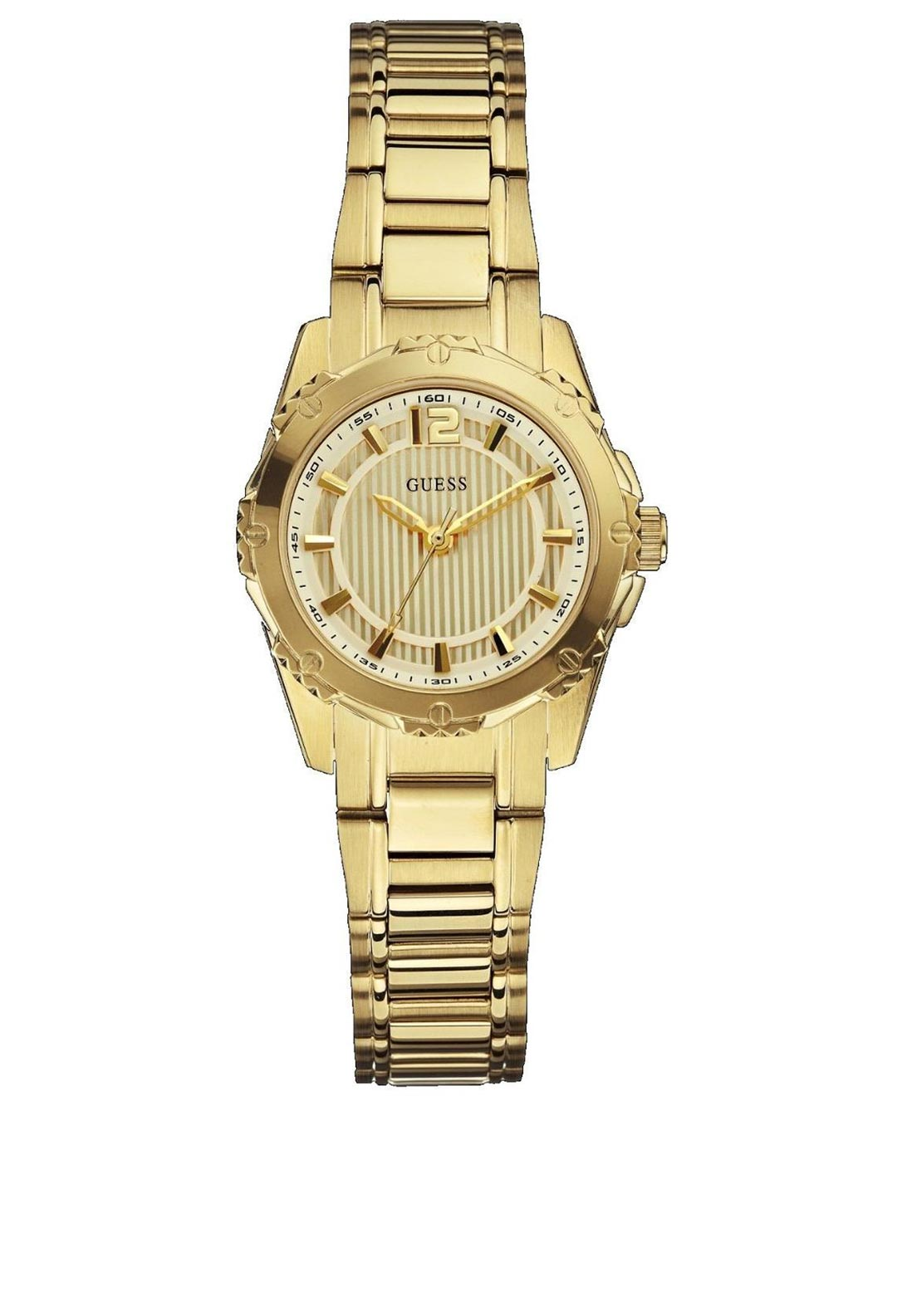 Guess Womens Quartz Gold Plated Watch