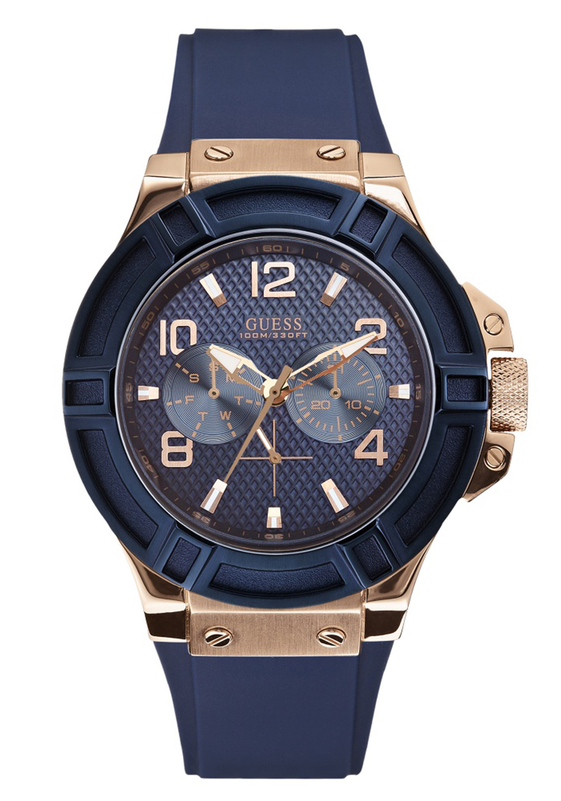 Guess Mens Rigor Watch, Blue
