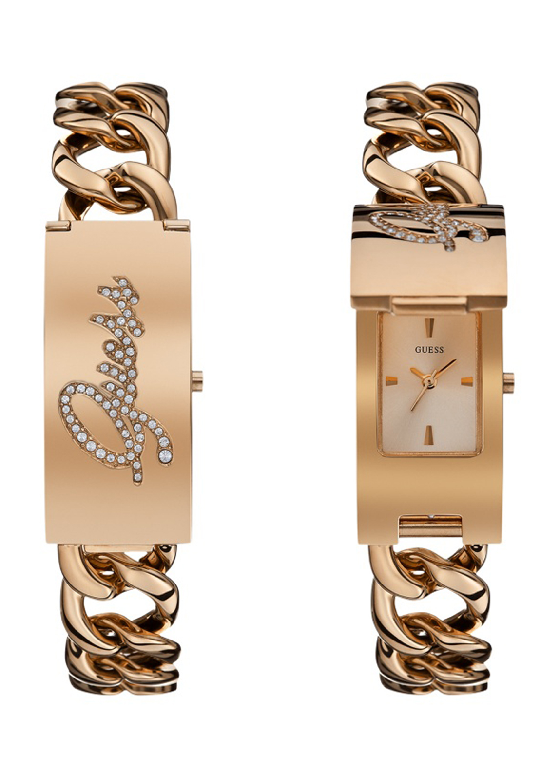 Guess Womens Pop Icon Watch, Rose Gold