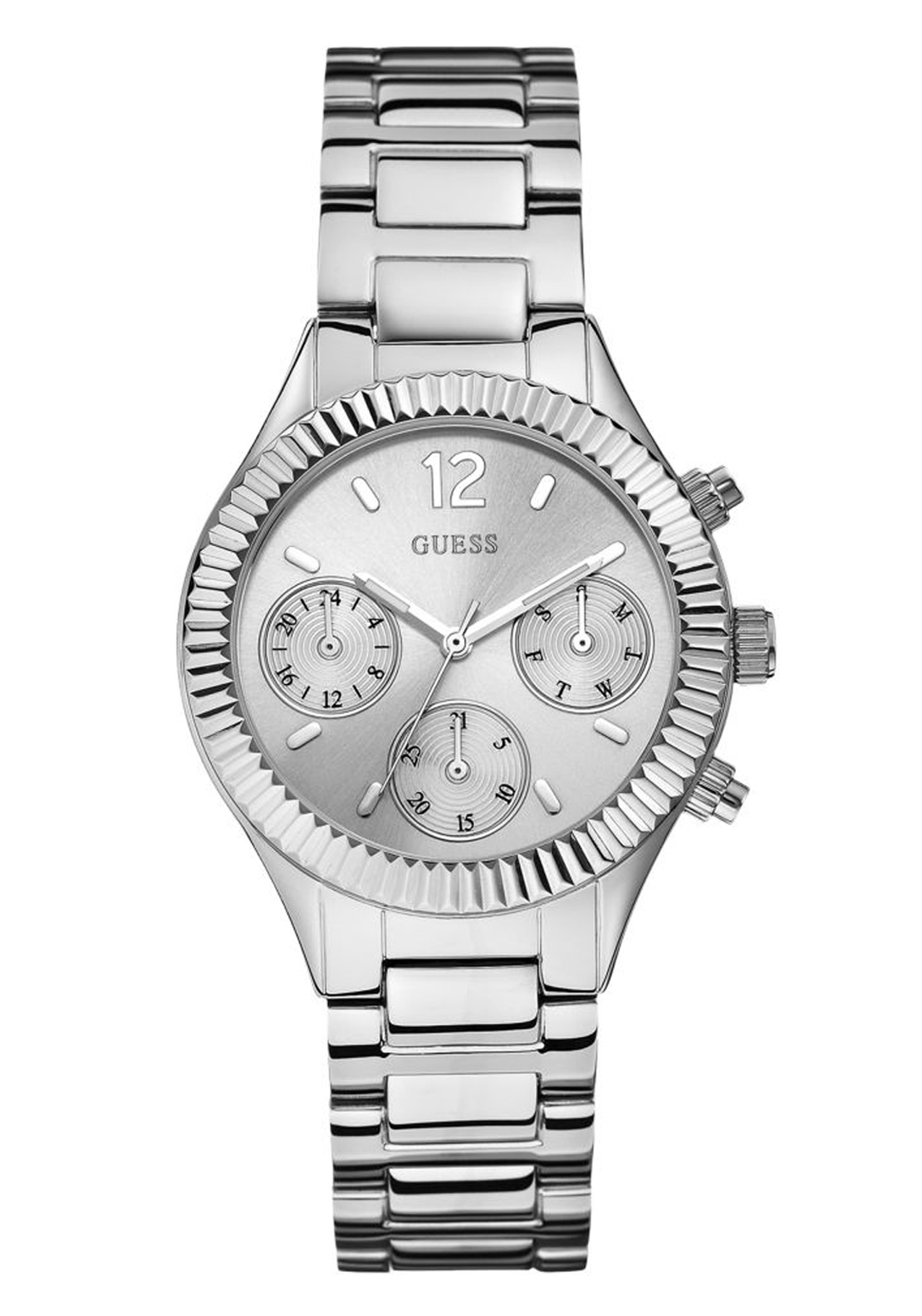 Guess Womens Riviera Watch, Silver