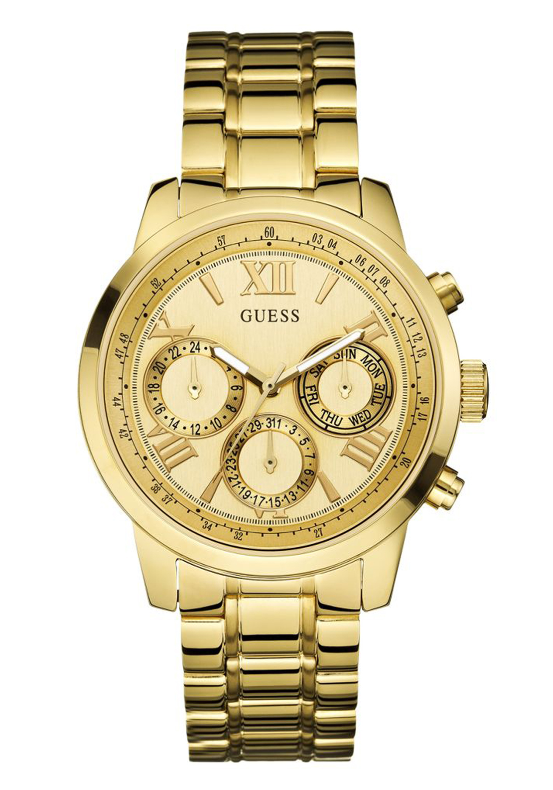 Guess Womens Sunrise Watch, Gold