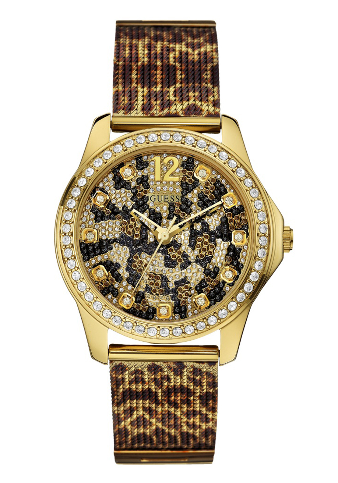 Guess Womens Wildcat Watch, Gold