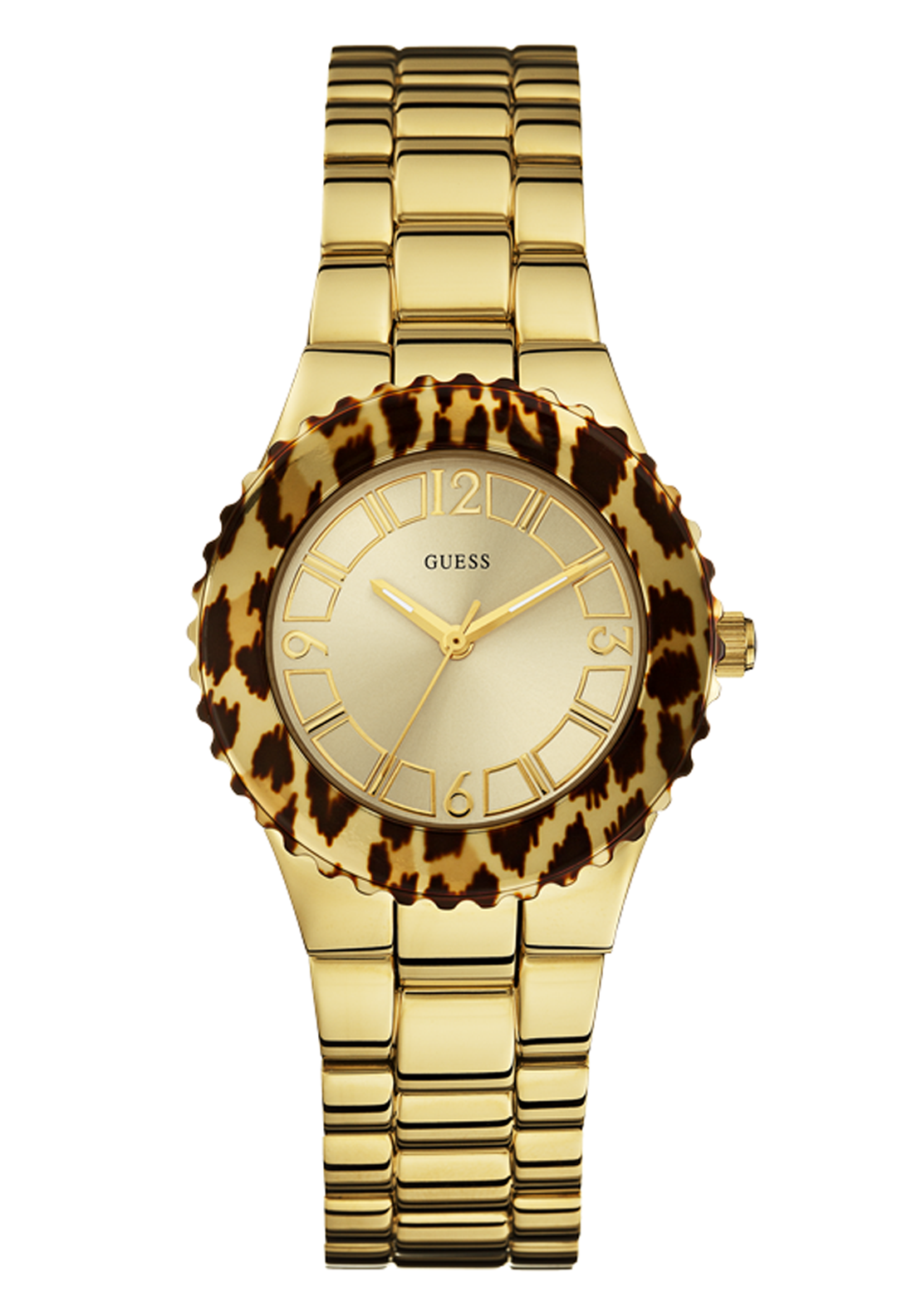 Guess Womens Unleashed Watch, Gold