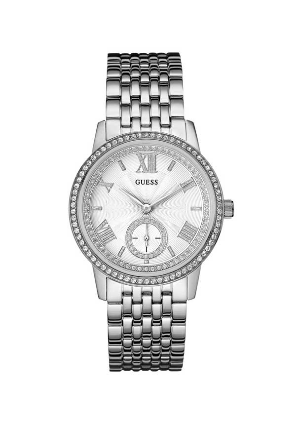 Guess Womens Gramercy Watch, Silver