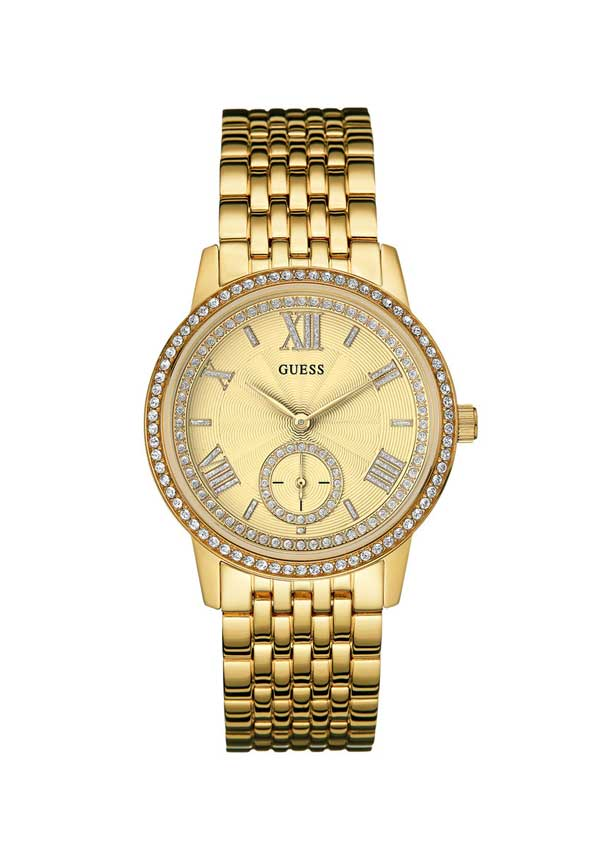 Guess Womens Gramercy Watch, Gold