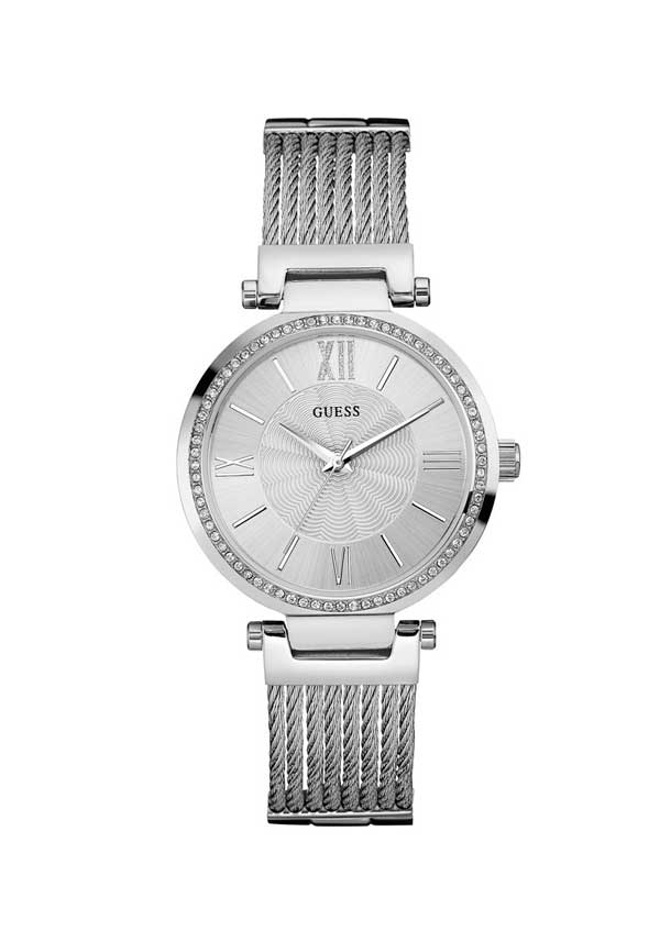 Guess Womens Soho Watch, Silver