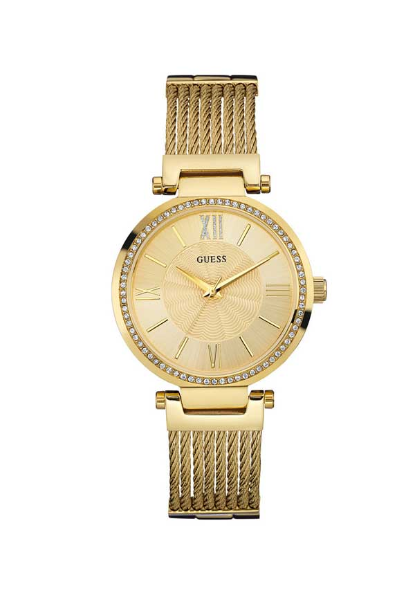 Guess Womens Soho Watch, Gold