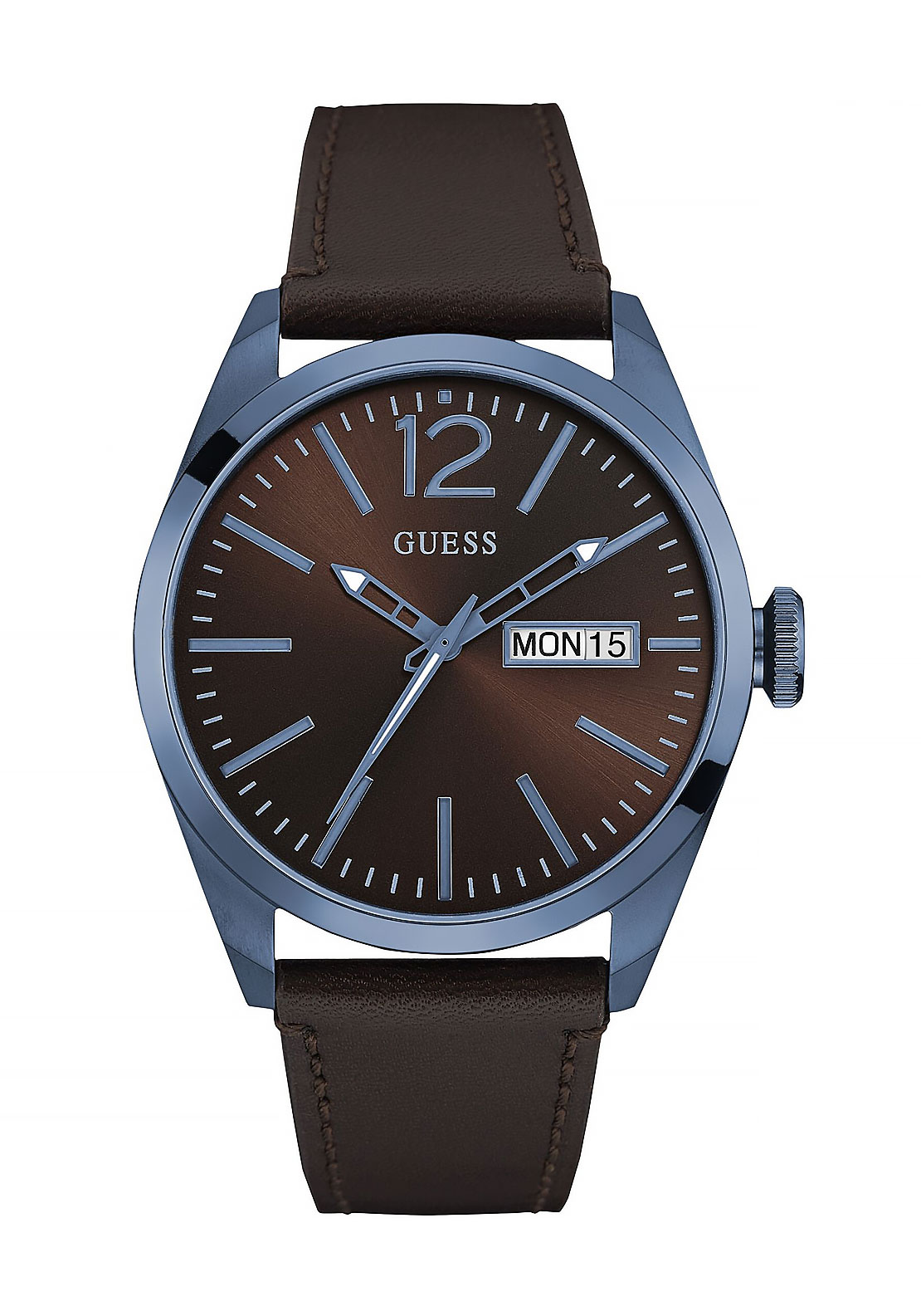 Guess Mens  Analog Watch, Brown