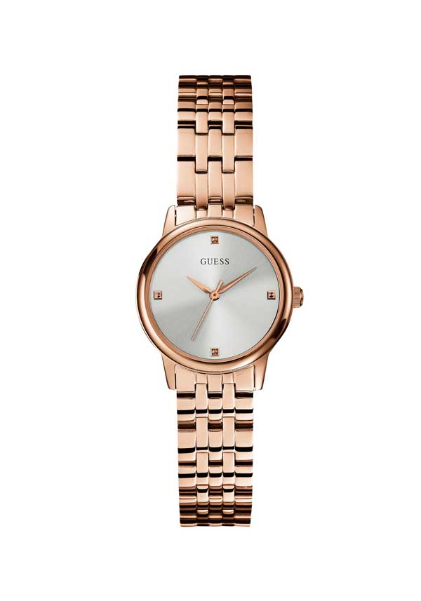 Guess Womens Lady Wafer Watch, Rose Gold