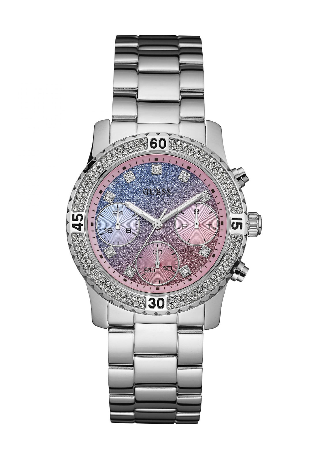 Guess Womens Confetti Watch, Silver