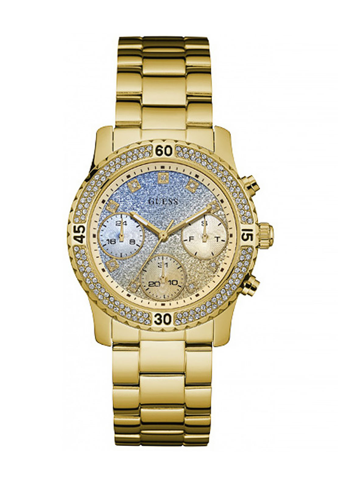 Guess Womens Confetti Watch, Gold