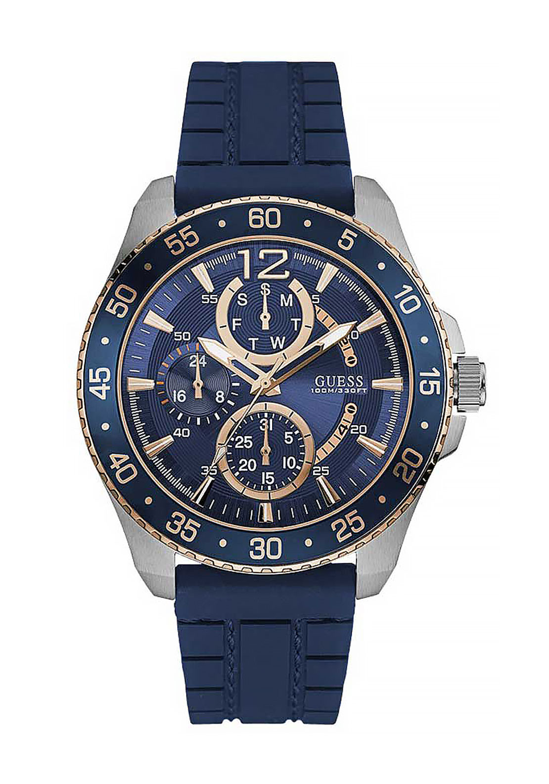 Guess Mens Analogue Quartz Watch Blue Face
