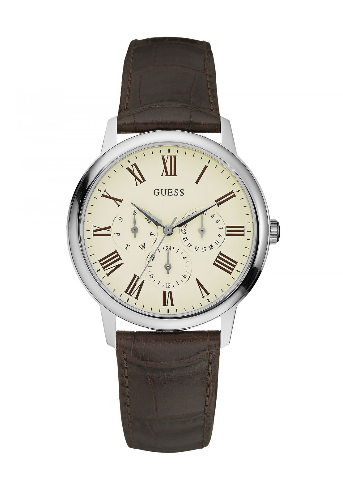 Guess Mens Wafer Watch, Brown