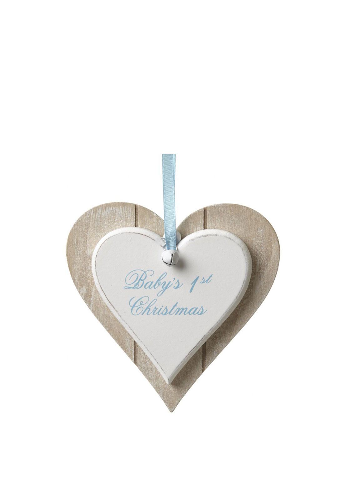 Heaven Sends Hanging Heart Decoration-  1st Christmas Boy