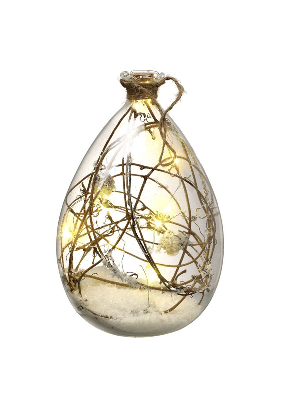 Heaven Sends Glass Led Bauble Tree Decoration