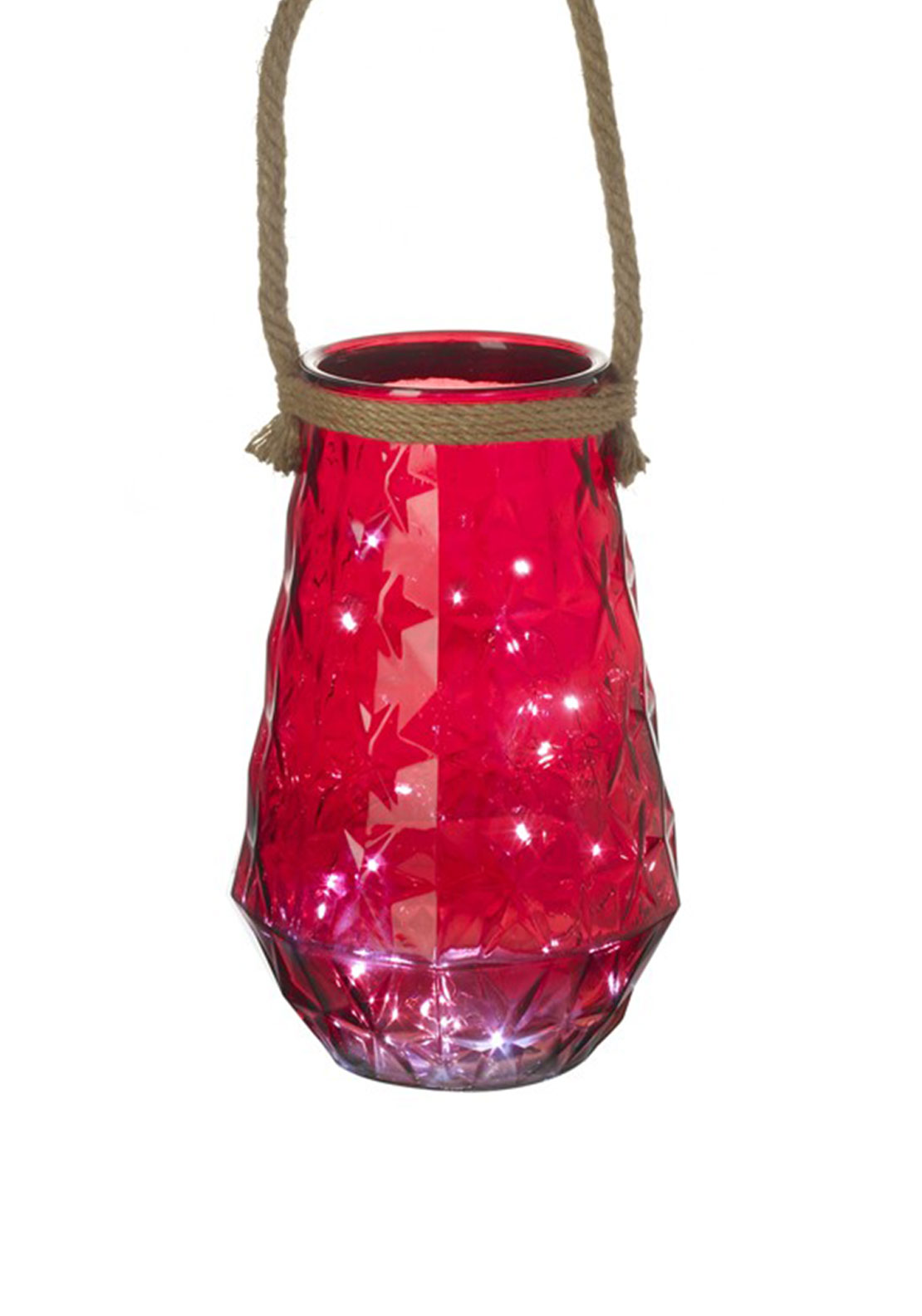 Heaven Sends Red Christmas LED Jar
