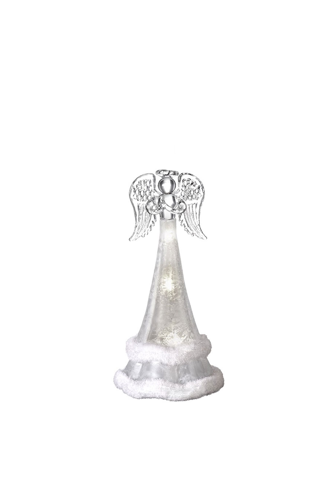 Heaven Sends Christmas Glass Angel with Light Decoration