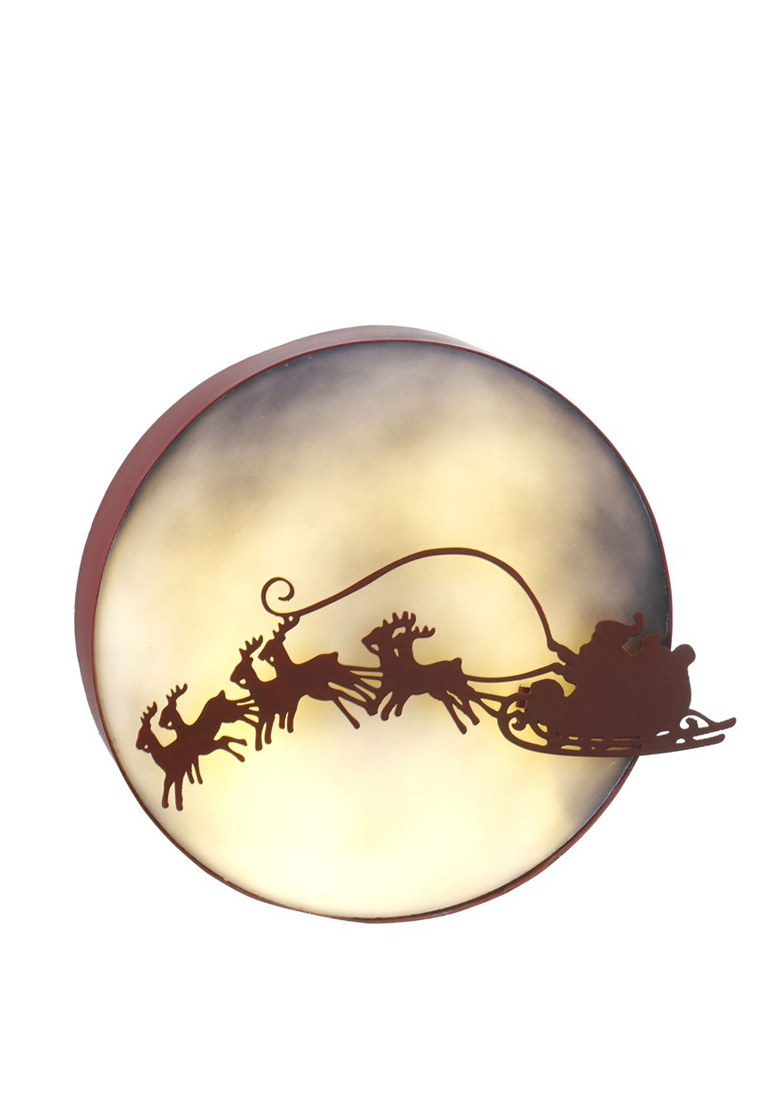 Heaven Sends Metal Santa Flying LED Decoration