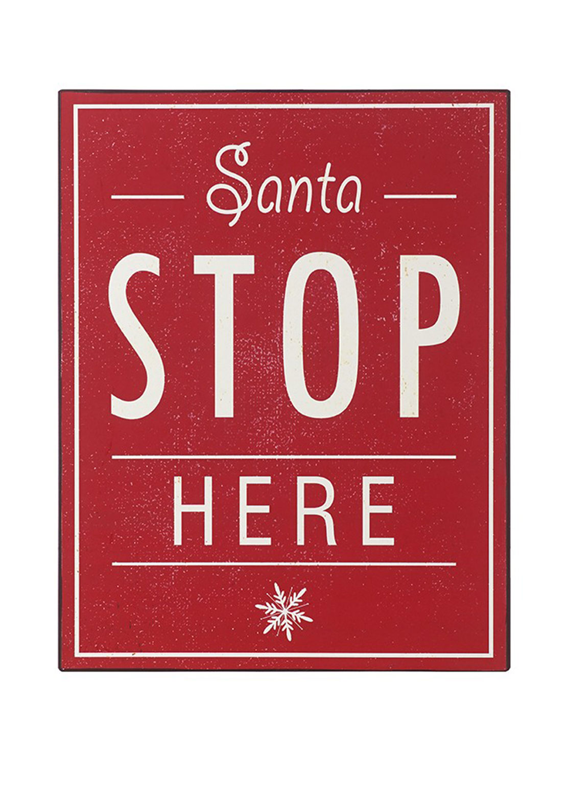 Heaven Sends Santa Stop Here Hanging Sign