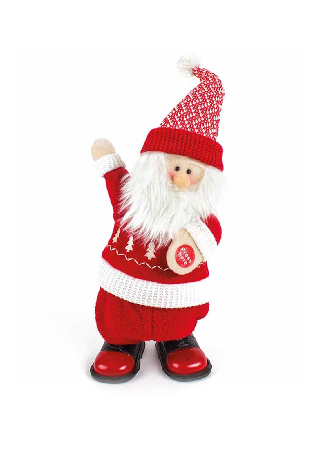 Heaven Send Singing Walking Santa Ornament