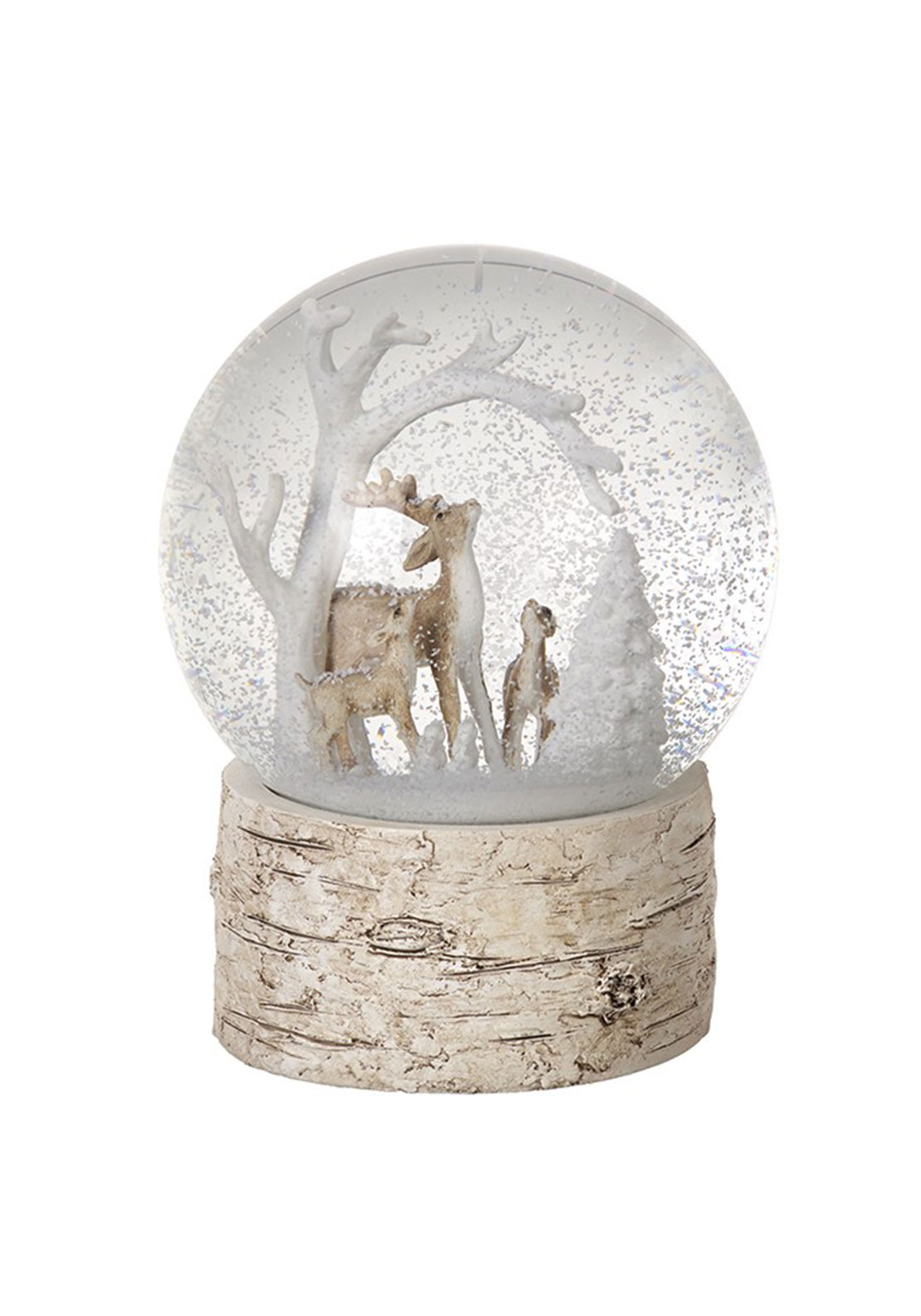 Heaven Sends Christmas Deers Snow Globe Ornament