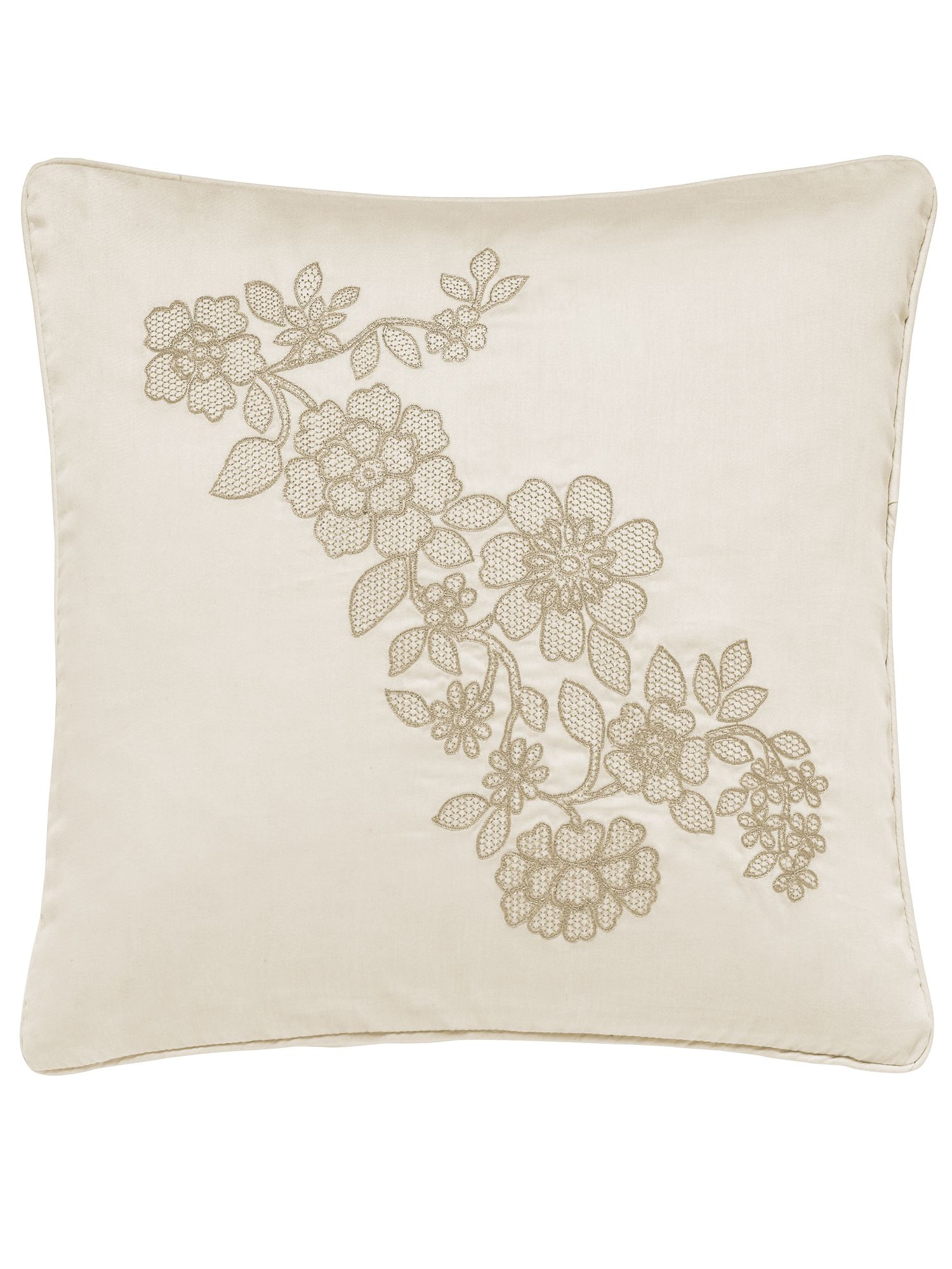 Helena Springfield Flora Cushion, Soft Gold