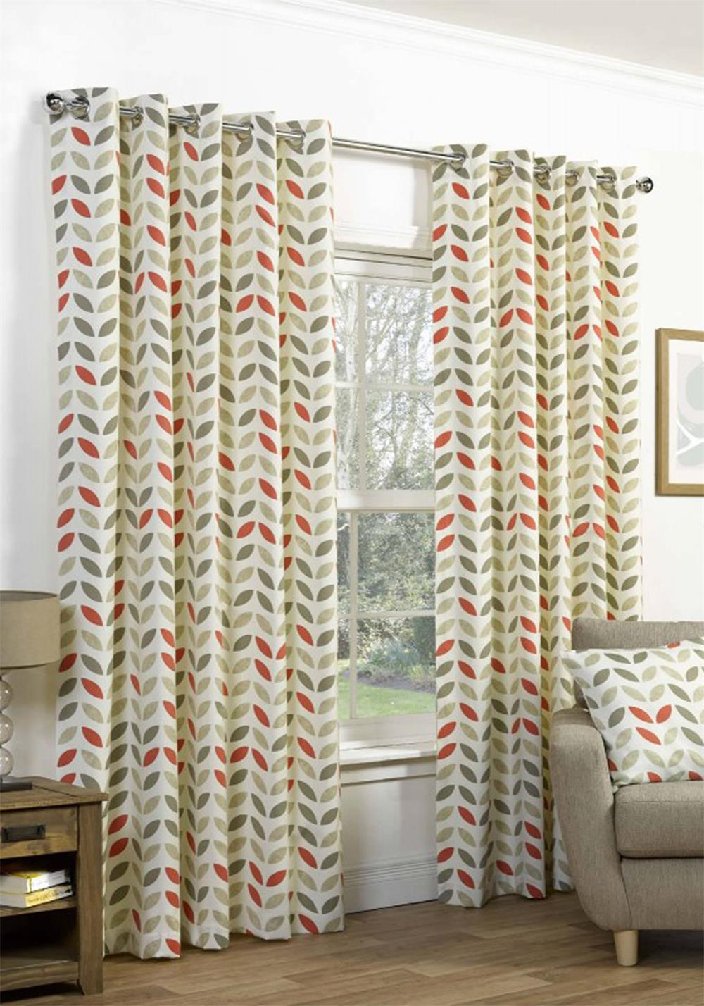 Hickeys Neo Ready Made Eyelet Curtains, Spice