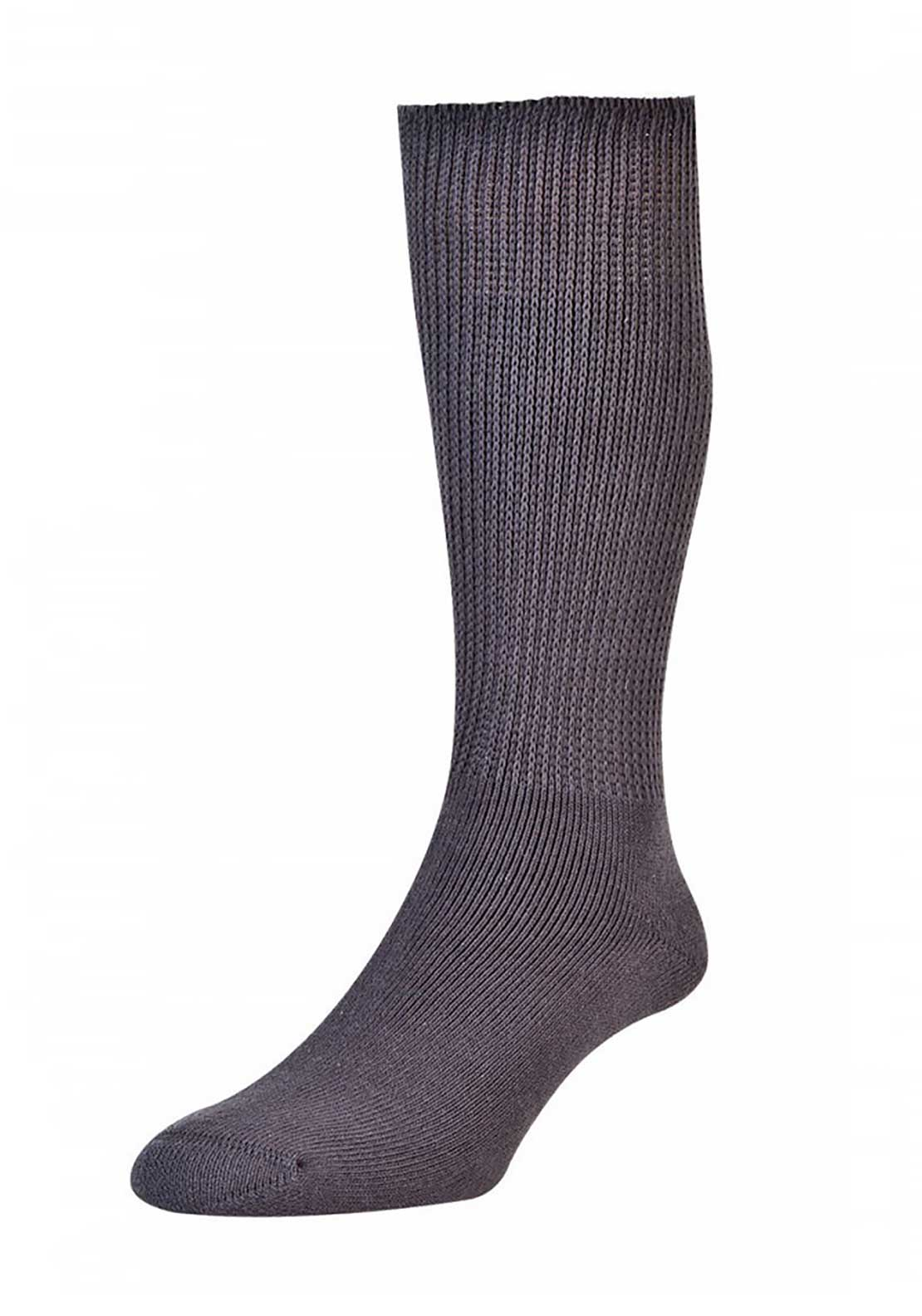 HJ Hall Unisex Cotton Diabetic Socks 6-11, Grey