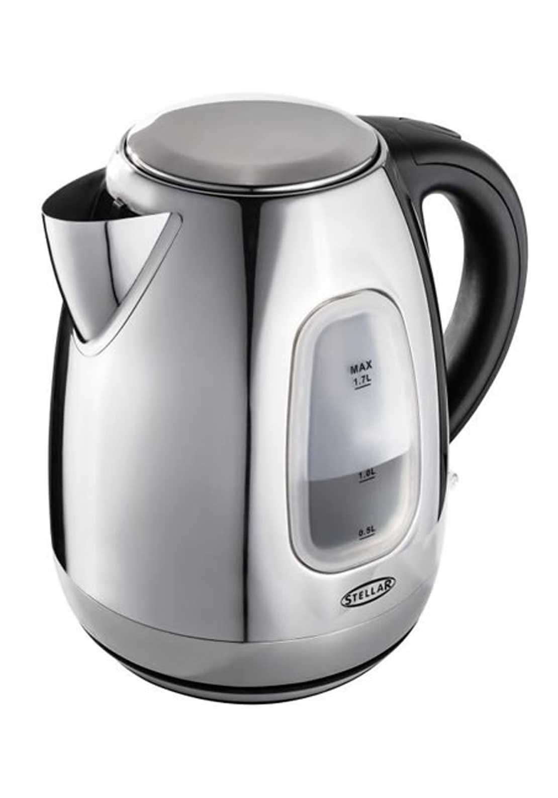 Stellar 3000w Quick Boil Staineless Steel Cordless Kettle, 1.7ltr