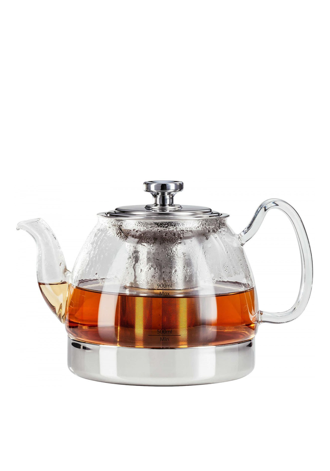 Judge Hob Top Glass Teapot with Removable Stainless Steel Infuser, 90ml