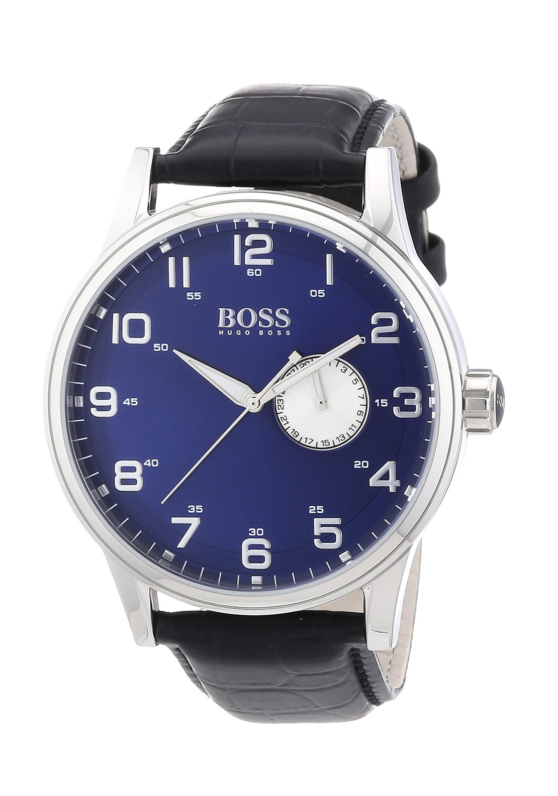 Hugo Boss 1512790 Men's Leather Watch, Black