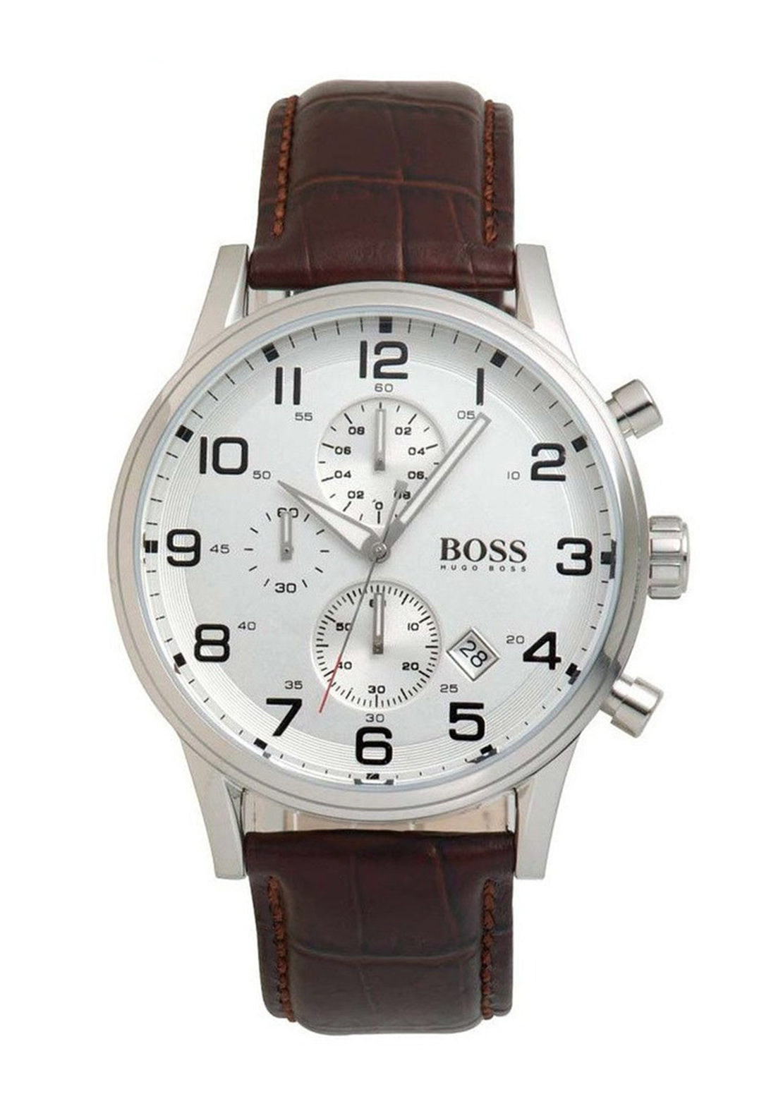 Hugo Boss Mens 1512447 Leather Watch, Brown