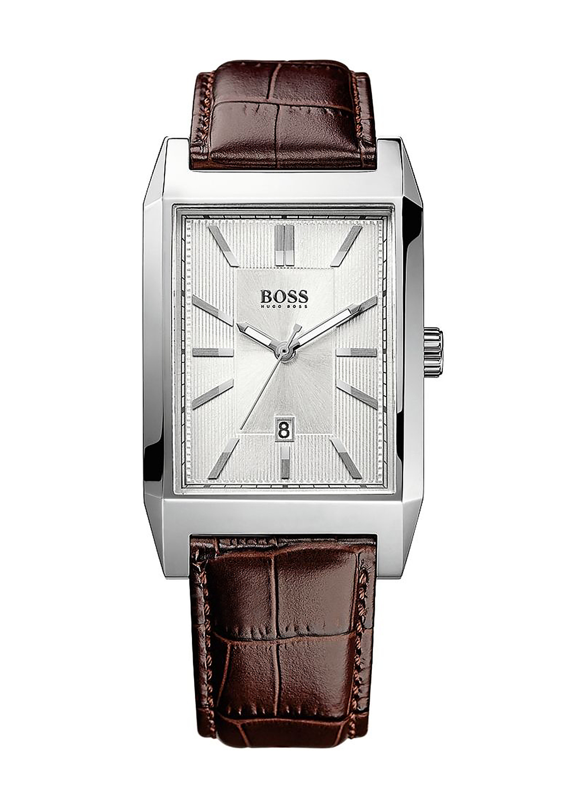 Hugo Boss Mens 1512916 Leather Watch, Brown
