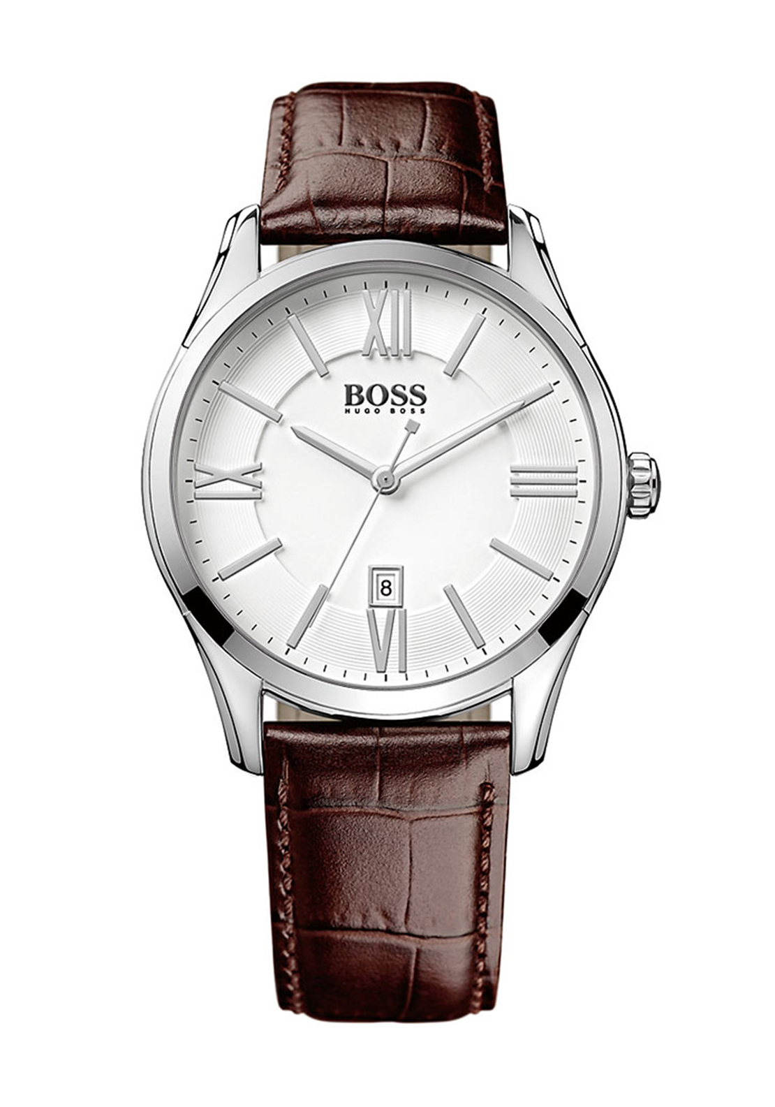 Hugo Boss Mens 1513021 Leather Watch, Brown