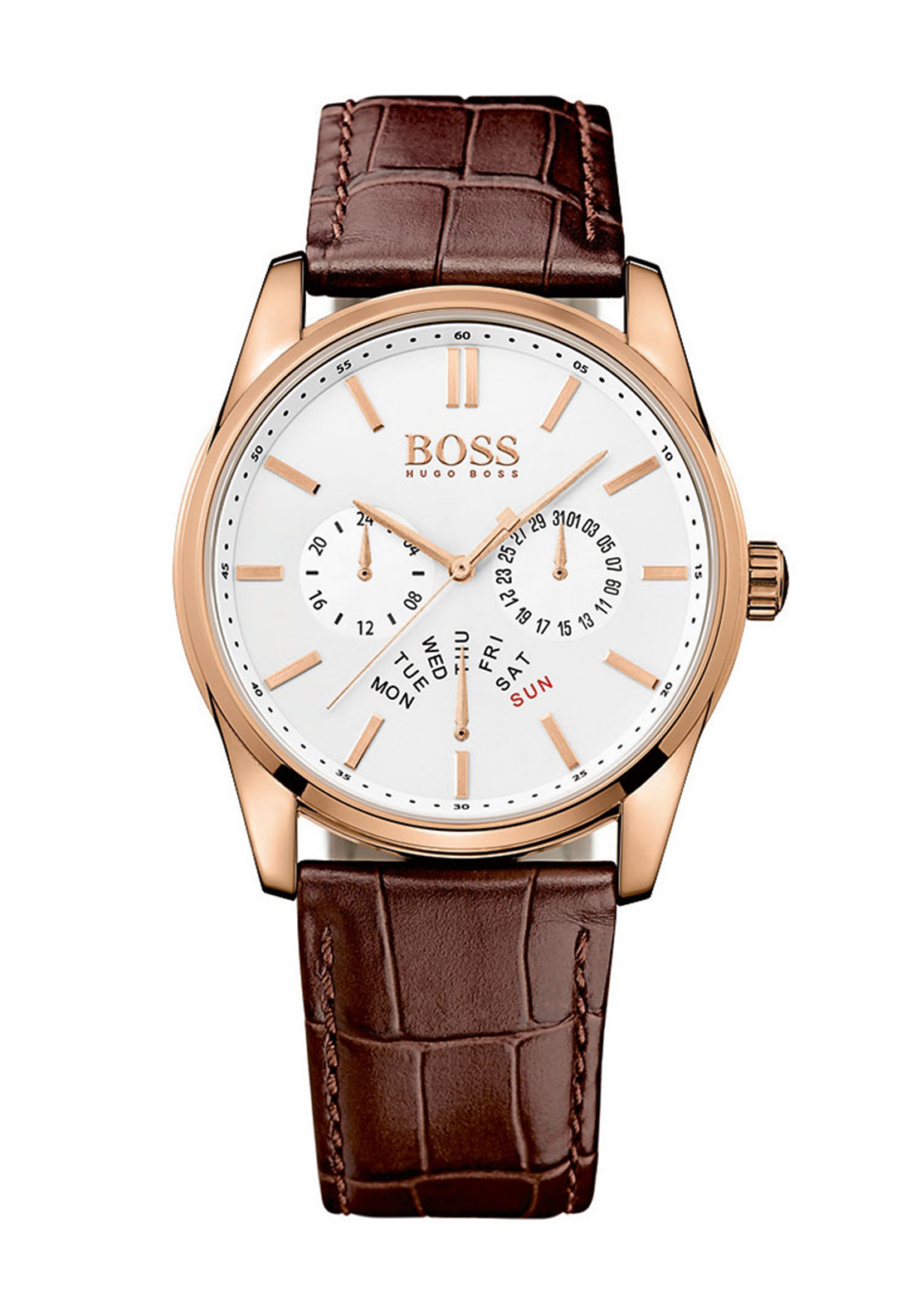 Hugo Boss Mens 1513125 Leather Watch, Brown