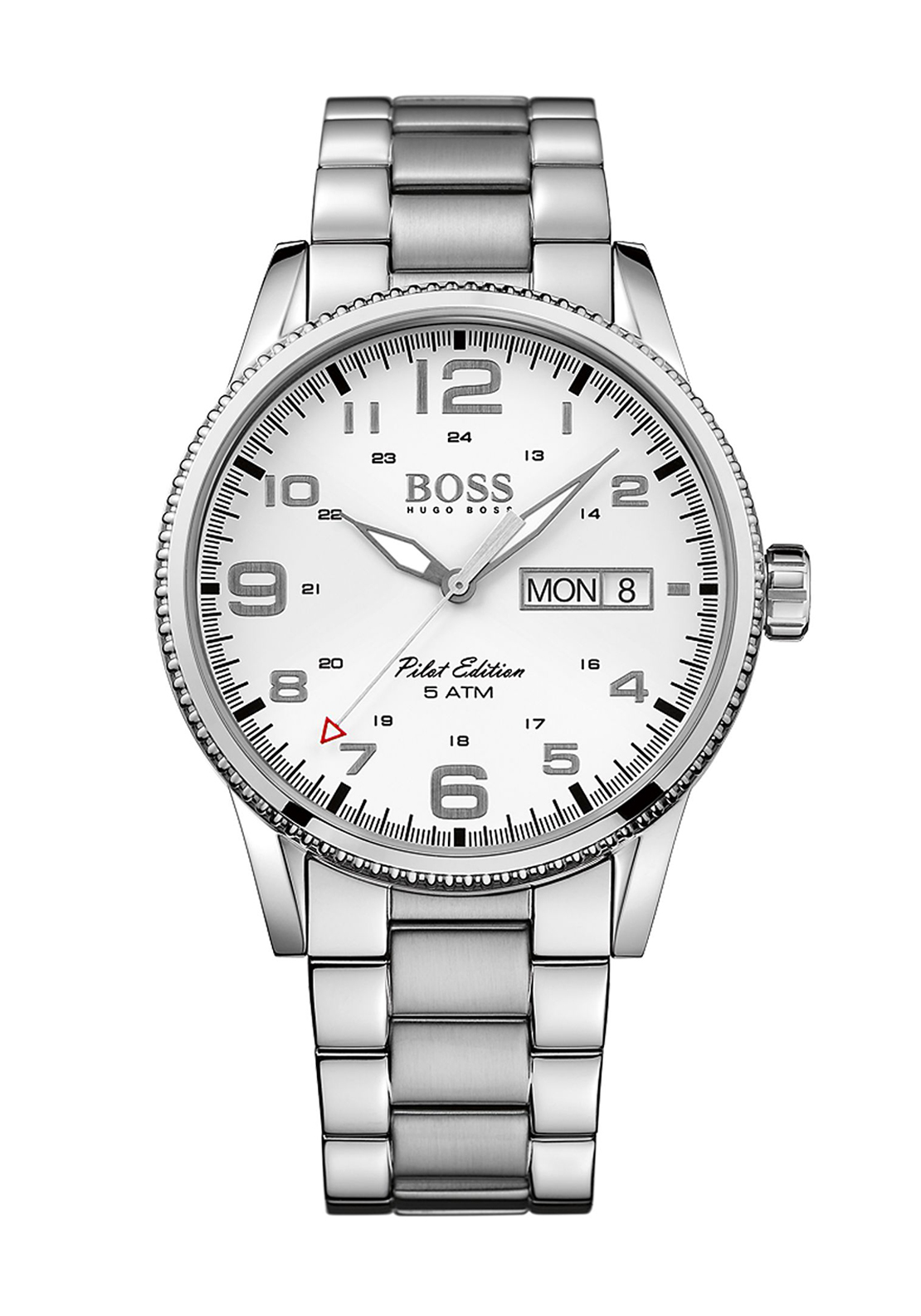 Hugo Boss Mens 1513328 Pilot Edition Watch, Stainless Steel Silver