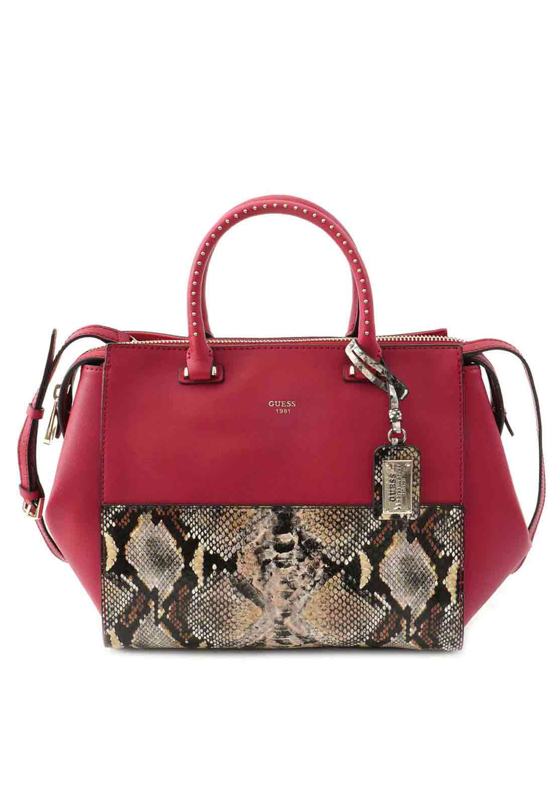 Guess Womens Hailey Small Grab Bag, Python Multi