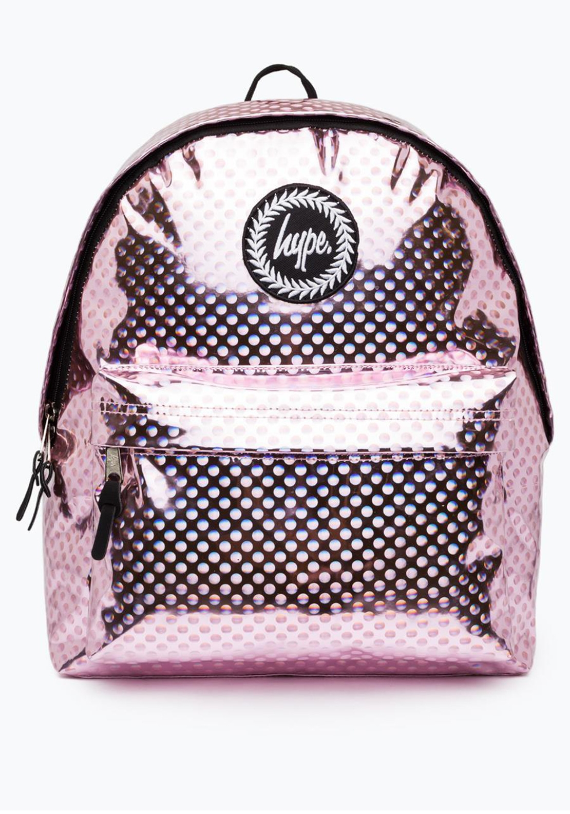Hype Metallic Polka Backpack, Pink