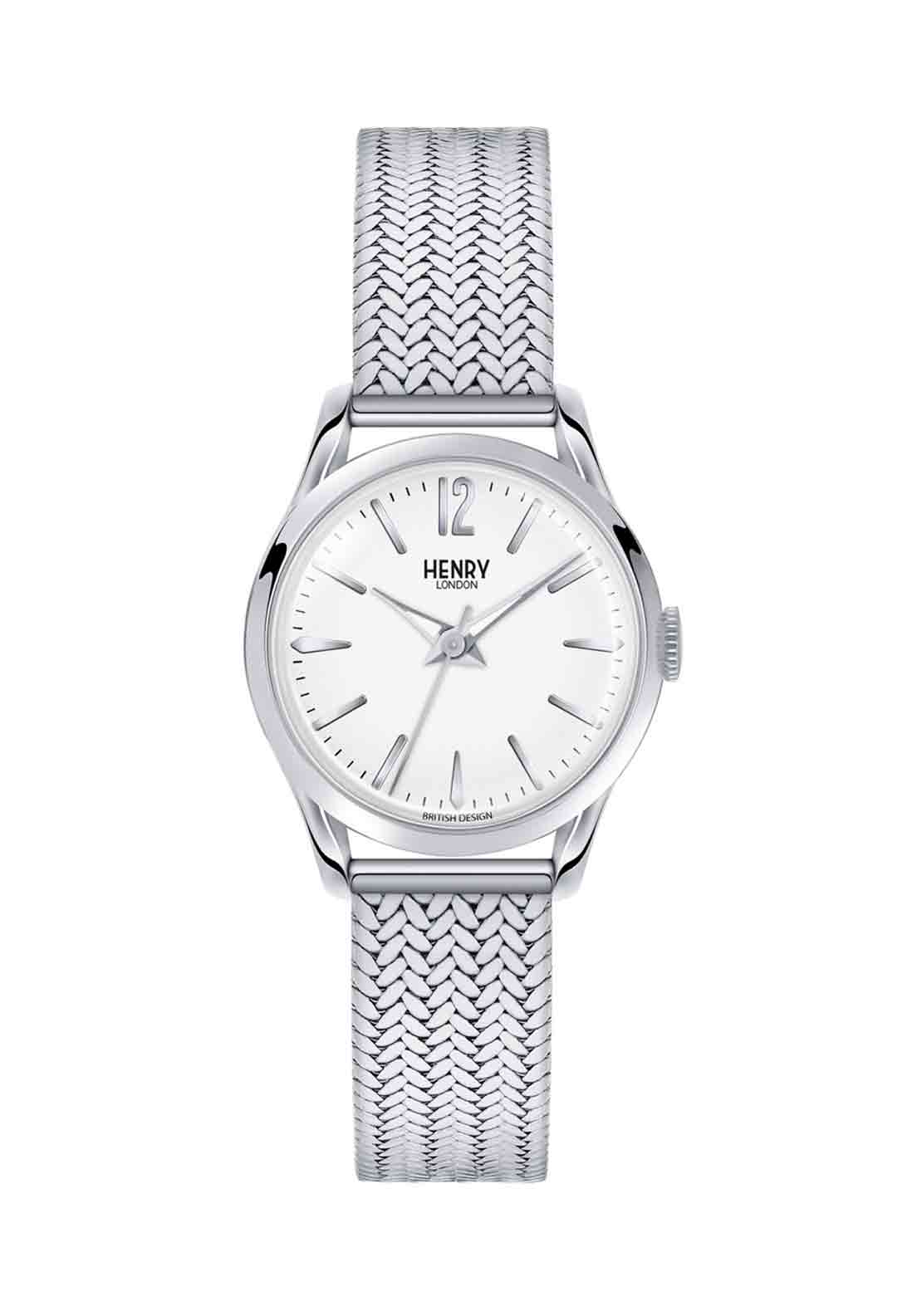 Henry London Womens Edgware Slim Watch, Silver