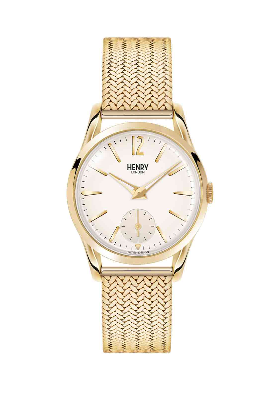 Henry London Womens Westminster Slim Watch, Gold