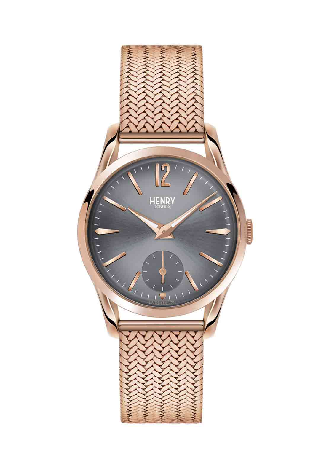 Henry London Womens Finchley Slim Watch, Rose Gold