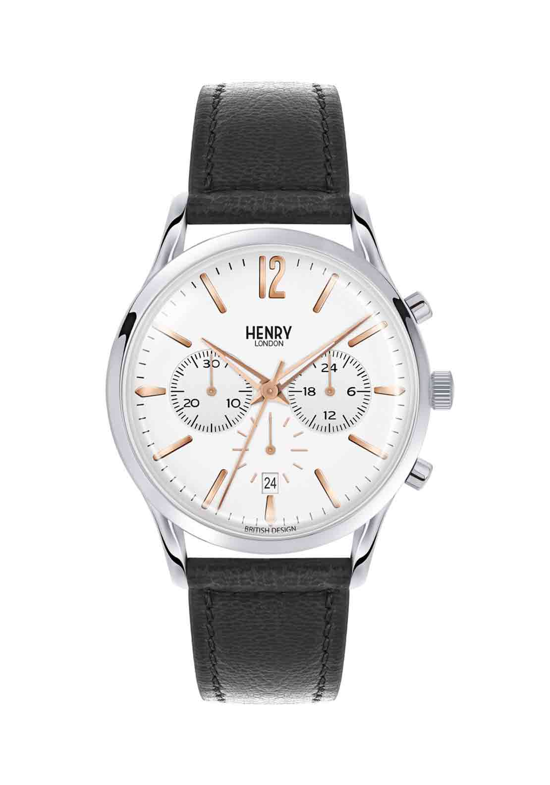 Henry London Mens Highgate Watch, Black